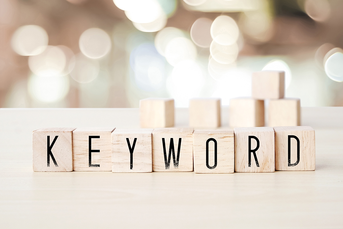 Blocks spelling out the word keyword